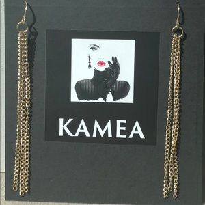 Kameakay gold dangle earrings